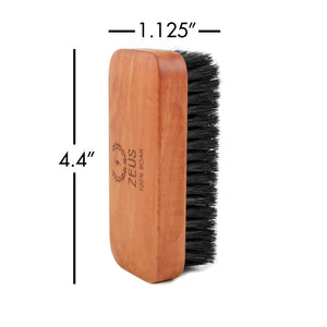 Zeus Pear Wood Brush and Sandalwood Comb Set