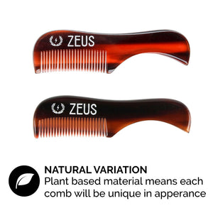 Mustache Styling Wax and Mustache Comb Grooming Set, Mega Hold