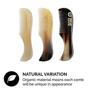 Load image into Gallery viewer, Zeus Natural Horn Mustache Comb in Deluxe Tin