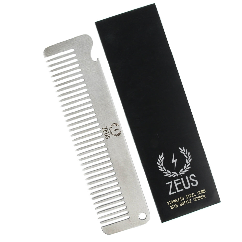 Zeus Stainless Steel Comb with Bottle Opener - F21