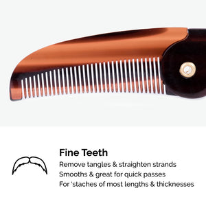 Load image into Gallery viewer, Zeus Folding Mustache Comb - K11