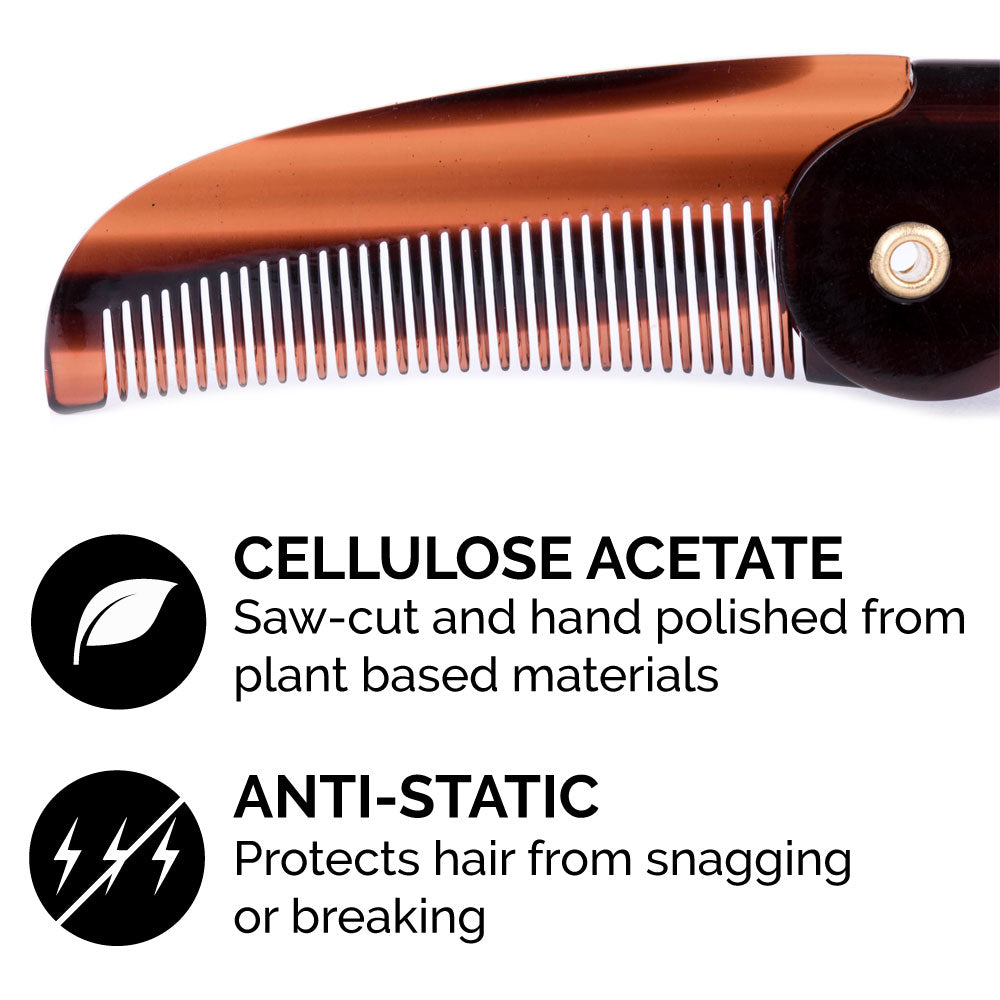 Mustache Wax and Mustache Comb Grooming Set