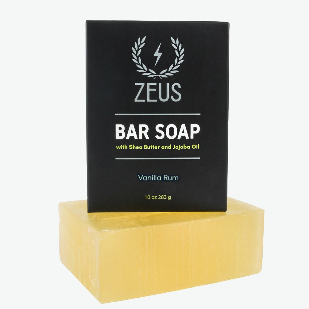 Zeus Bar Soap, 10 oz, Vanilla Rum
