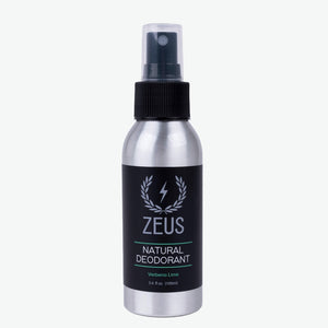 Natural Deodorant Spray, Zeus Natural Verbena Lime
