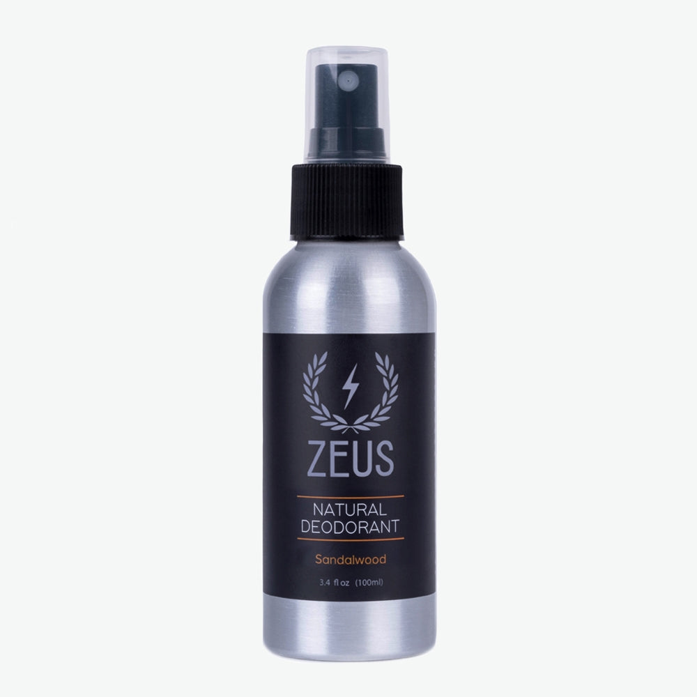 Natural Deodorant Spray, Zeus Natural Sandalwood