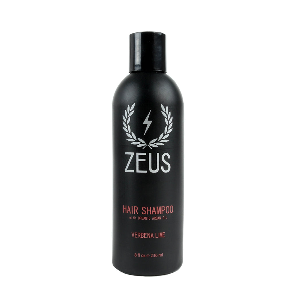 Hair Shampoo and Conditioner with Argan Oil Set (8 fl oz), Zeus Verbena Lime