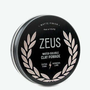Clay Pomade, Extra Firm, Zeus Natural Verbena Lime