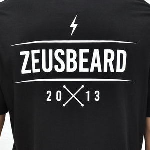 Load image into Gallery viewer, Zeus 100% Cotton, Bolt Graphic Tee - Black