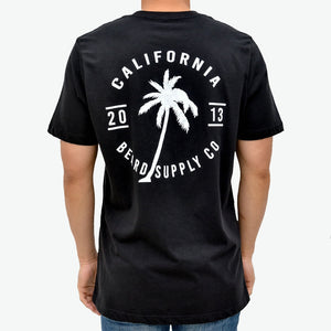 Zeus 100% Cotton, Palm Graphic Tee - Black