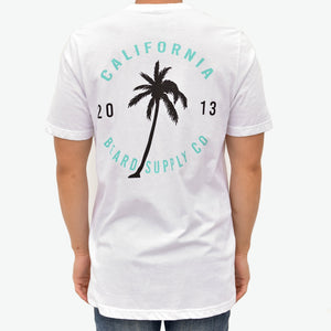 Zeus 100% Cotton, Palm Graphic Tee - White