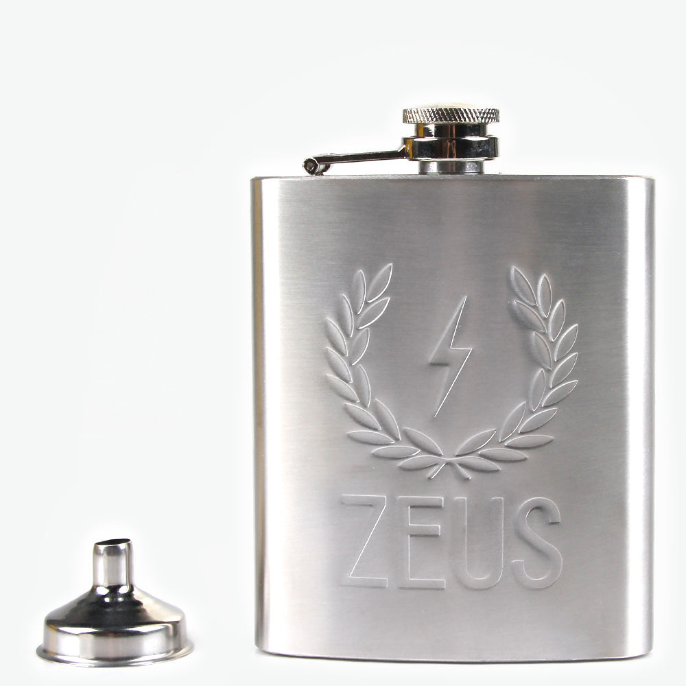 Zeus Stainless Steel Hip Flask and Funnel Set