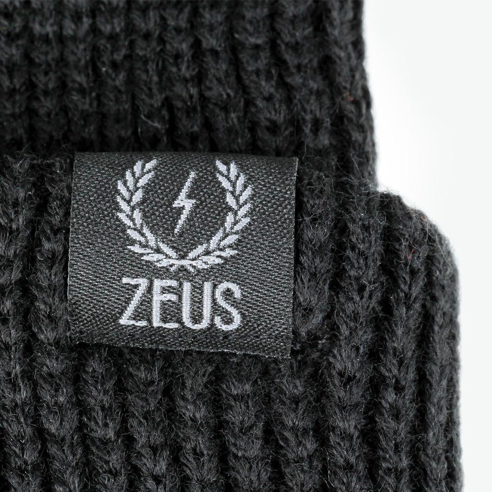 Load image into Gallery viewer, Zeus Ribbed Knit Beanie, Black