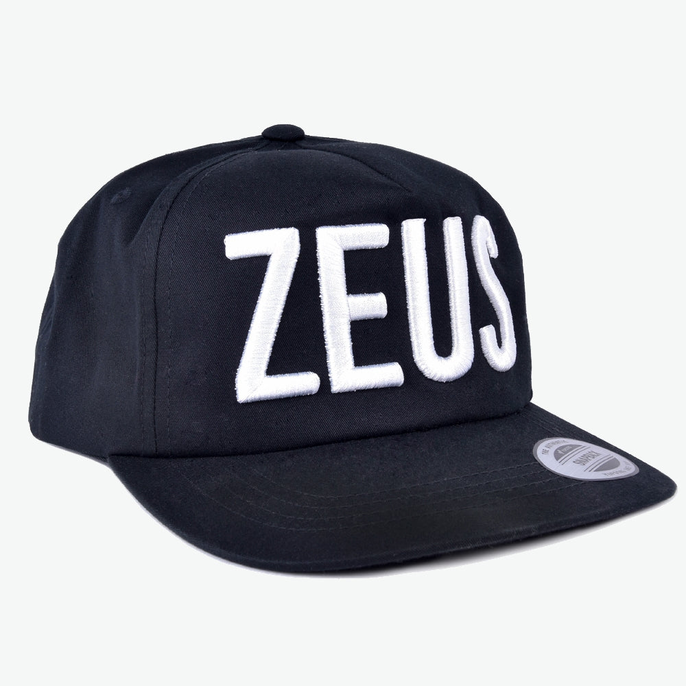 Load image into Gallery viewer, Zeus Black Logo Snapback Hat