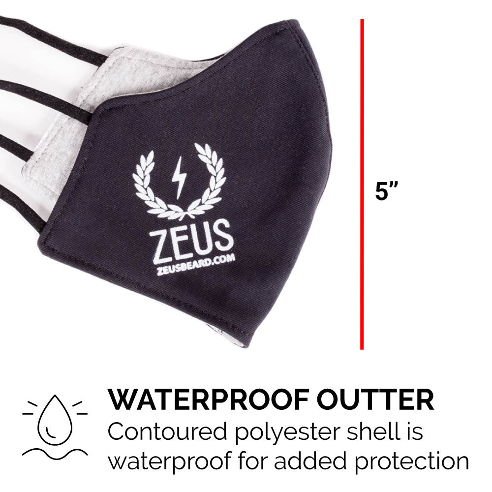 Zeus Comfy 2-Ply Face Mask, 3 Pack