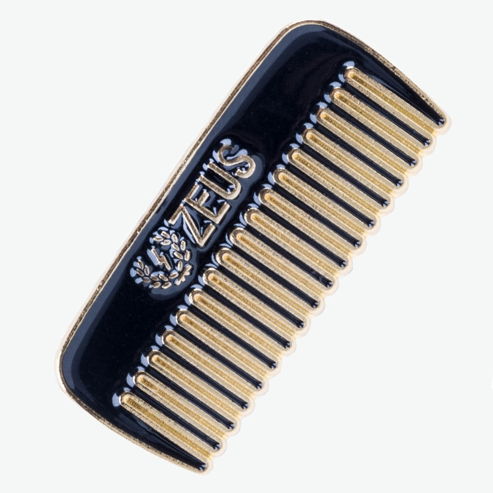 Load image into Gallery viewer, Zeus Comb Enamel Pin