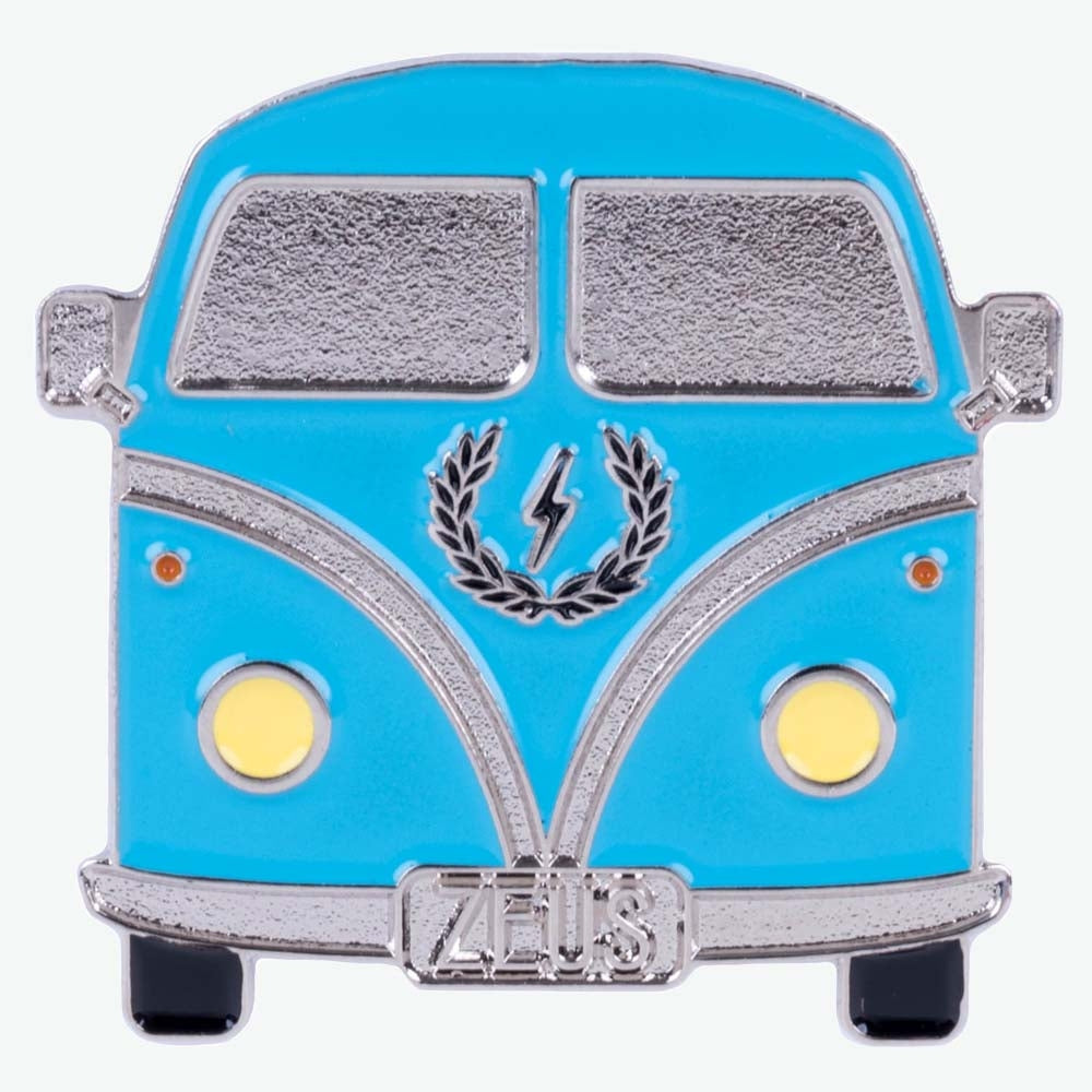 Load image into Gallery viewer, Zeus Vintage Bus Enamel Pin