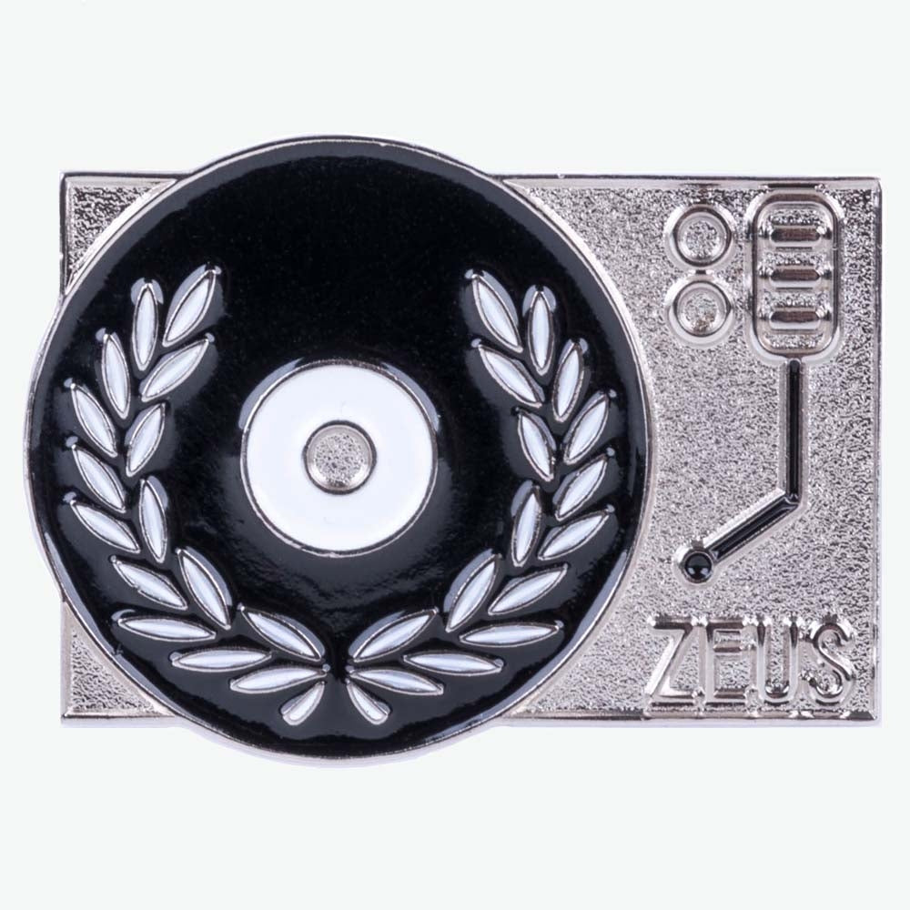 Load image into Gallery viewer, Zeus Turntable Enamel Pin