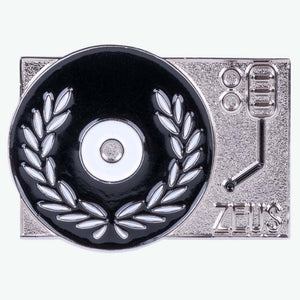 Zeus Turntable Enamel Pin