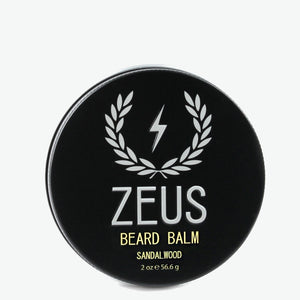 Beard Balm Conditioner, Zeus Sandalwood 2 oz.