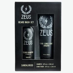 Load image into Gallery viewer, Beard Shampoo and Conditioner Set (8 fl oz), Zeus Sandalwood
