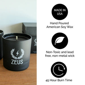 LIMITED EDITION Zeus Scented Soy Blend Candle, Verbena Lime
