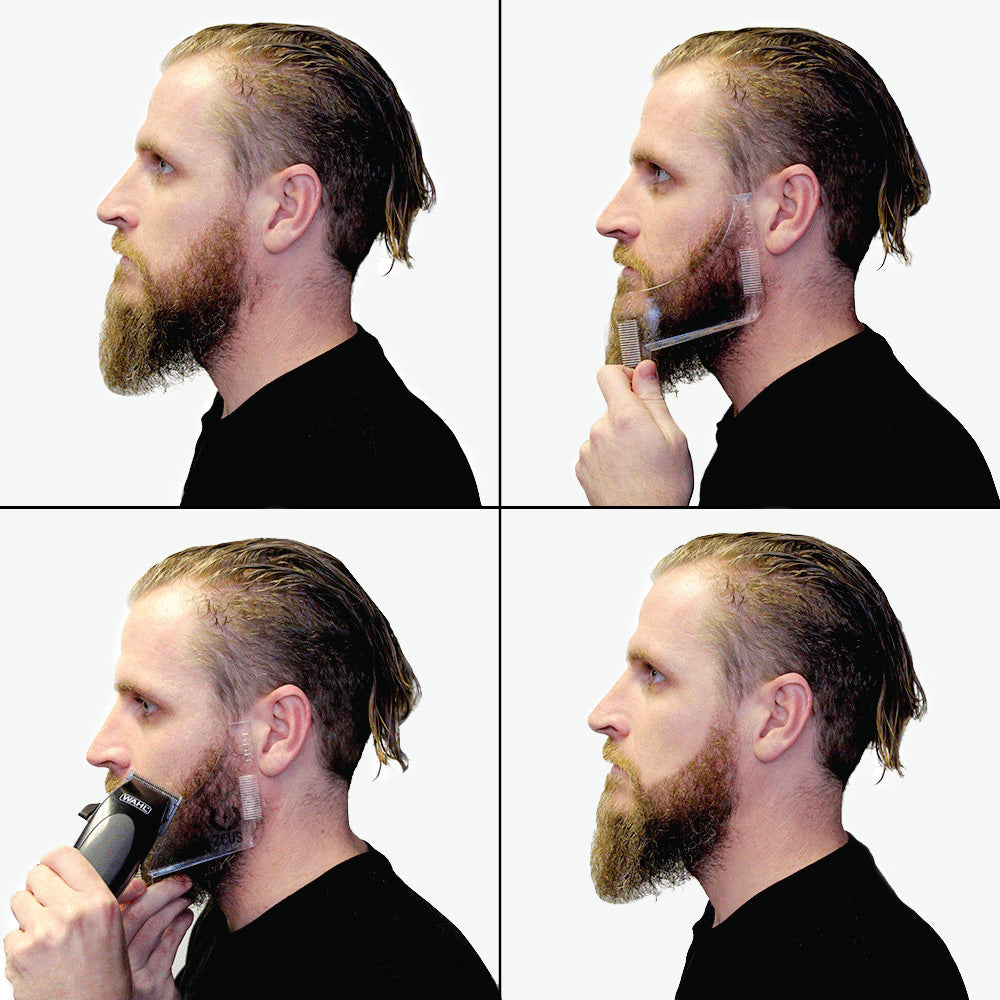 Load image into Gallery viewer, Zeus Edge Up Beard Shaping Template Tool