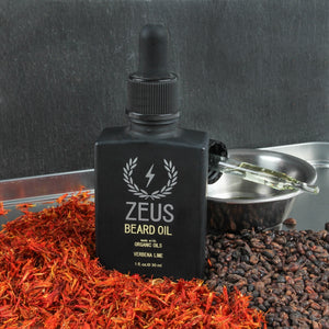 Beard Oil with Organic Oils, Zeus Natural Verbena Lime