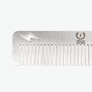 *Zeus Stainless Steel Comb Thunderbolt in Leather Sheath- 12 Units - Case