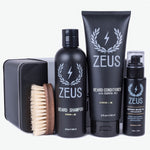 Zeus Vegan Beard Care Set, Pocket Brush