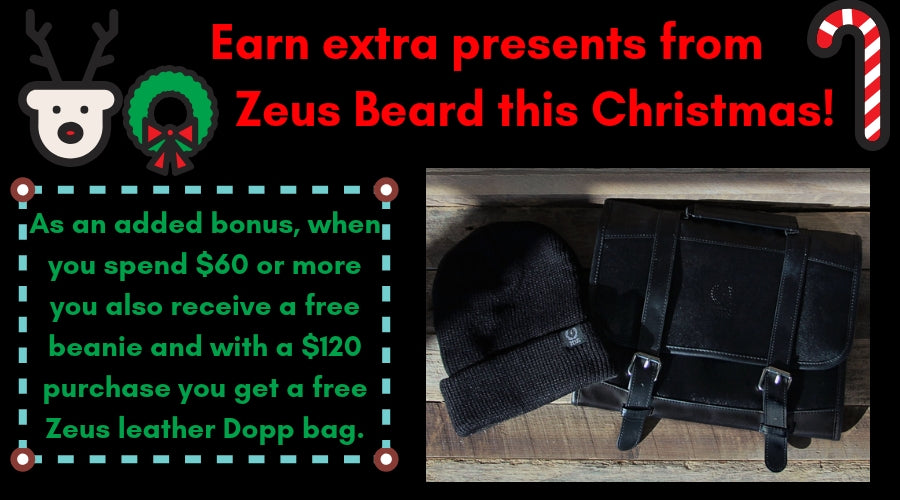 Zeus Beard offers Christmas gift ideas for him