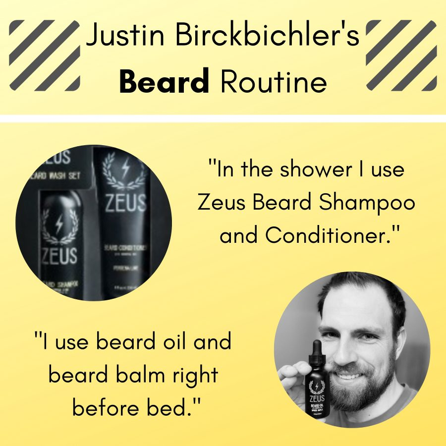 Zeus Beard shares testicular cancer survivor revamping routine