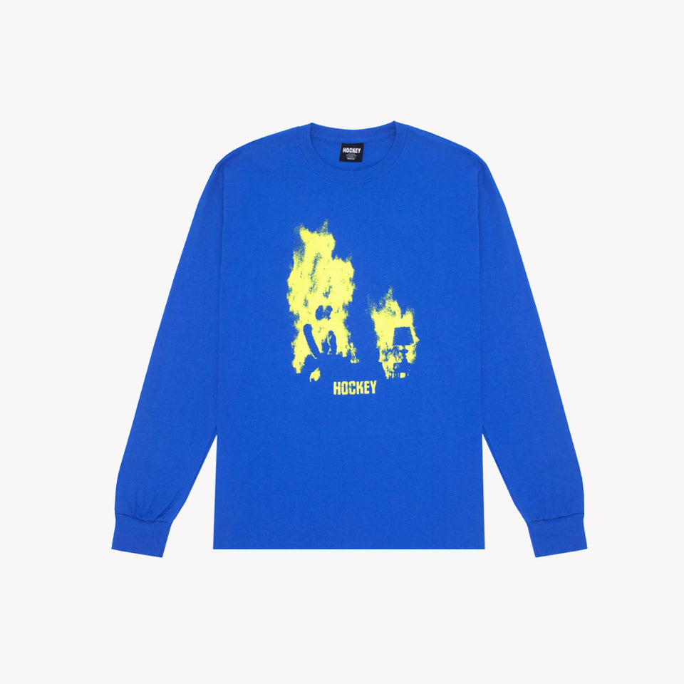 AT EASE LS TEE BLUE
