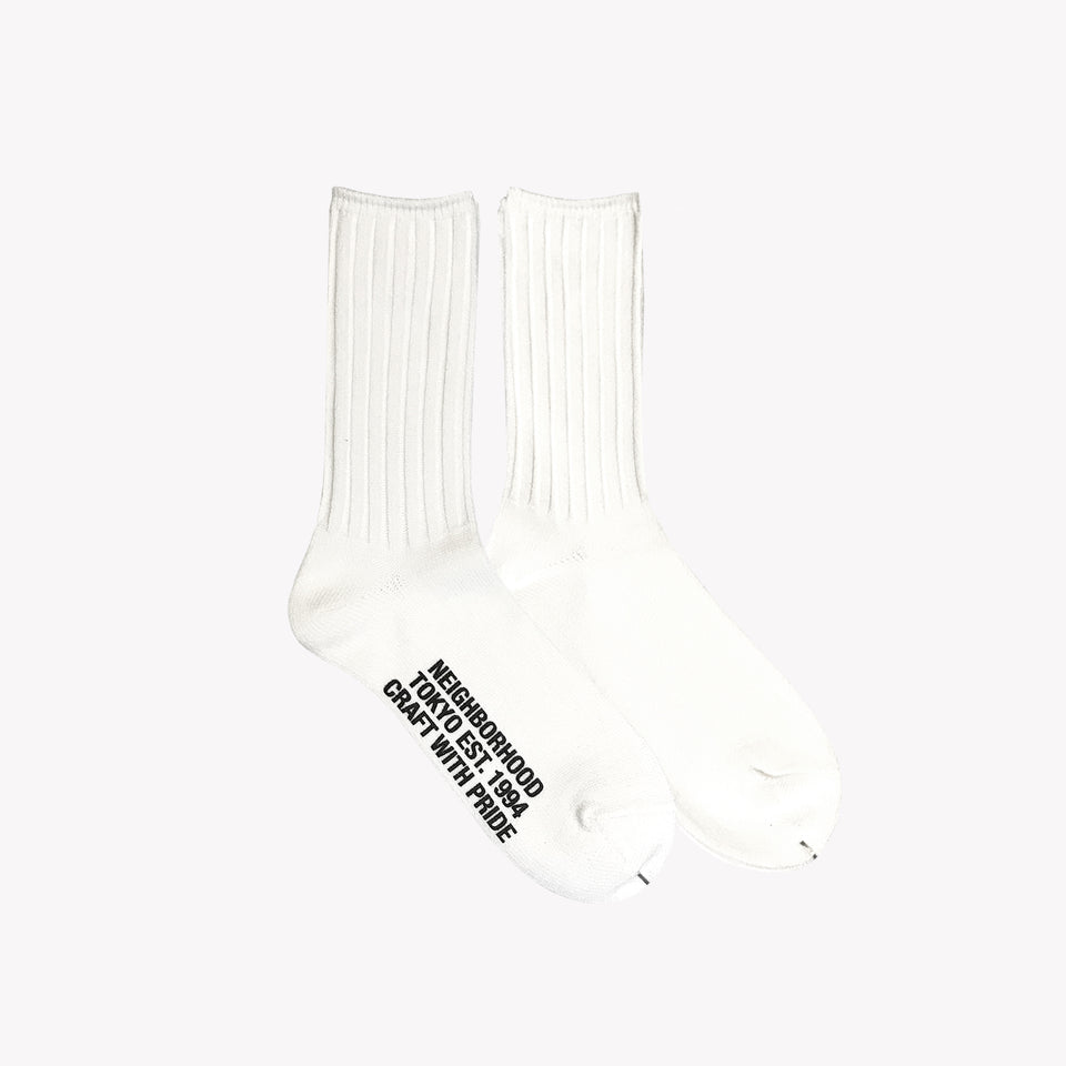 RIB SOCKS WHITE