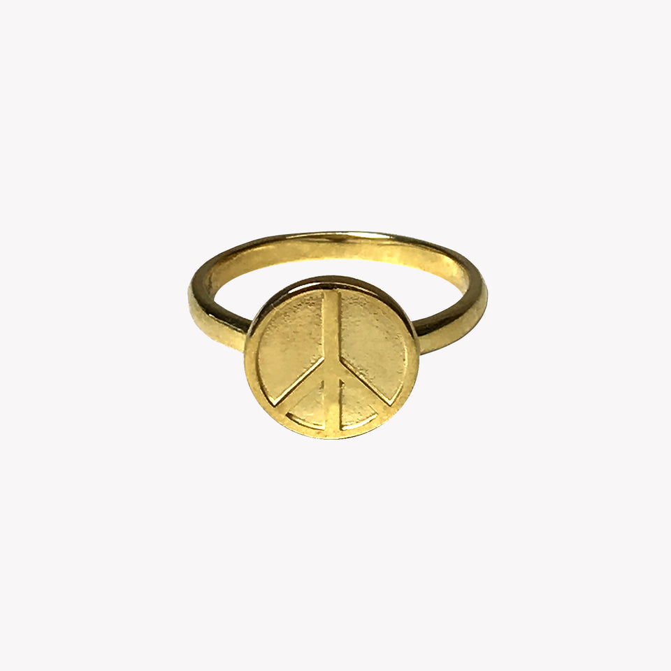 PEACE RING - GOLD PLATED