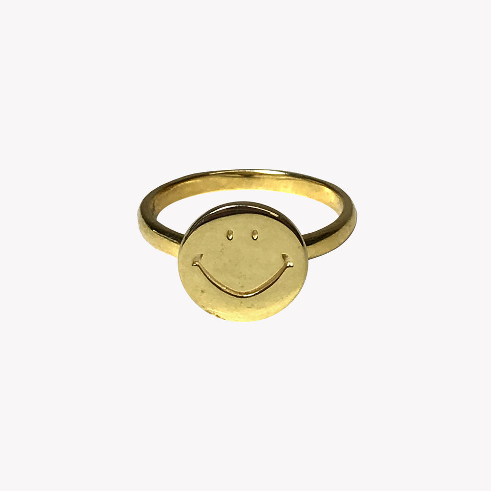 SMILEY RING - GOLD PLATED