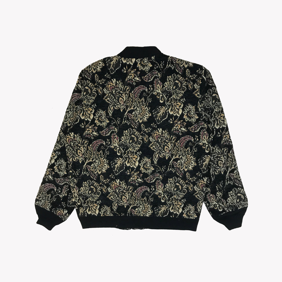 JACQUARD KNITTED BOMBER JACKET