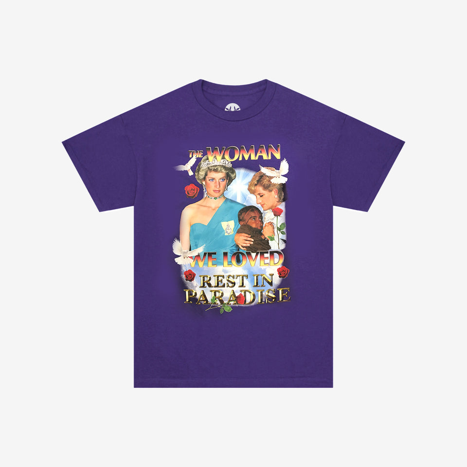 THE WOMAN WE LOVED SS TEE PURPLE