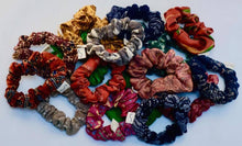 Load image into Gallery viewer, Recycled Sari Scrunchies (India)