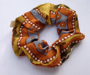 Recycled Sari Scrunchies (India)