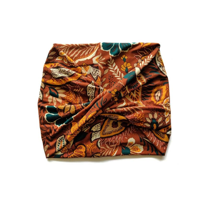 Exotic Brown - Wide Headband | Turban | Twist