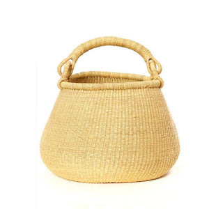 "17x15"" All Natural Ghanaian Kettle Bolga Basket 