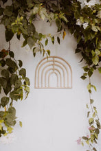 Load image into Gallery viewer, Indah Rattan Rainbow Wall Decor | Neutral Entryway Home