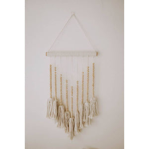 Coffee Wood Wall Hanging | Hand Woven Home Decor