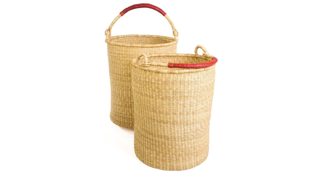 Natural Bolga Hamper Baskets | Set of 2