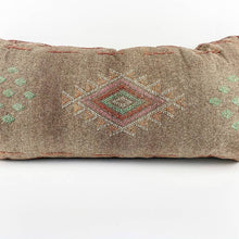 Load image into Gallery viewer, Brown Cactus Silk Moroccan Lumbar Pillow | 6 Colors