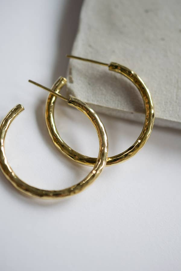 Hammered Hoops | Boho Chic Earrings