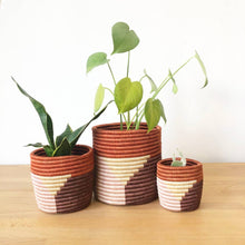 Load image into Gallery viewer, Rust Red Gishamvu Basket Planters (Set of 3)