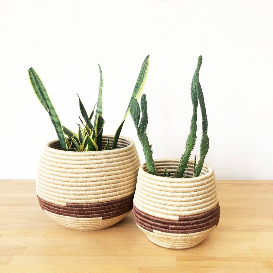 Brick Red Honey Pot Baskets | Indoor Planters