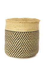 Load image into Gallery viewer, Iringa Baskets with Diagonal Black Stripes