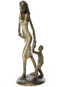 Lustrous Life Mother and Toddler Sculpture